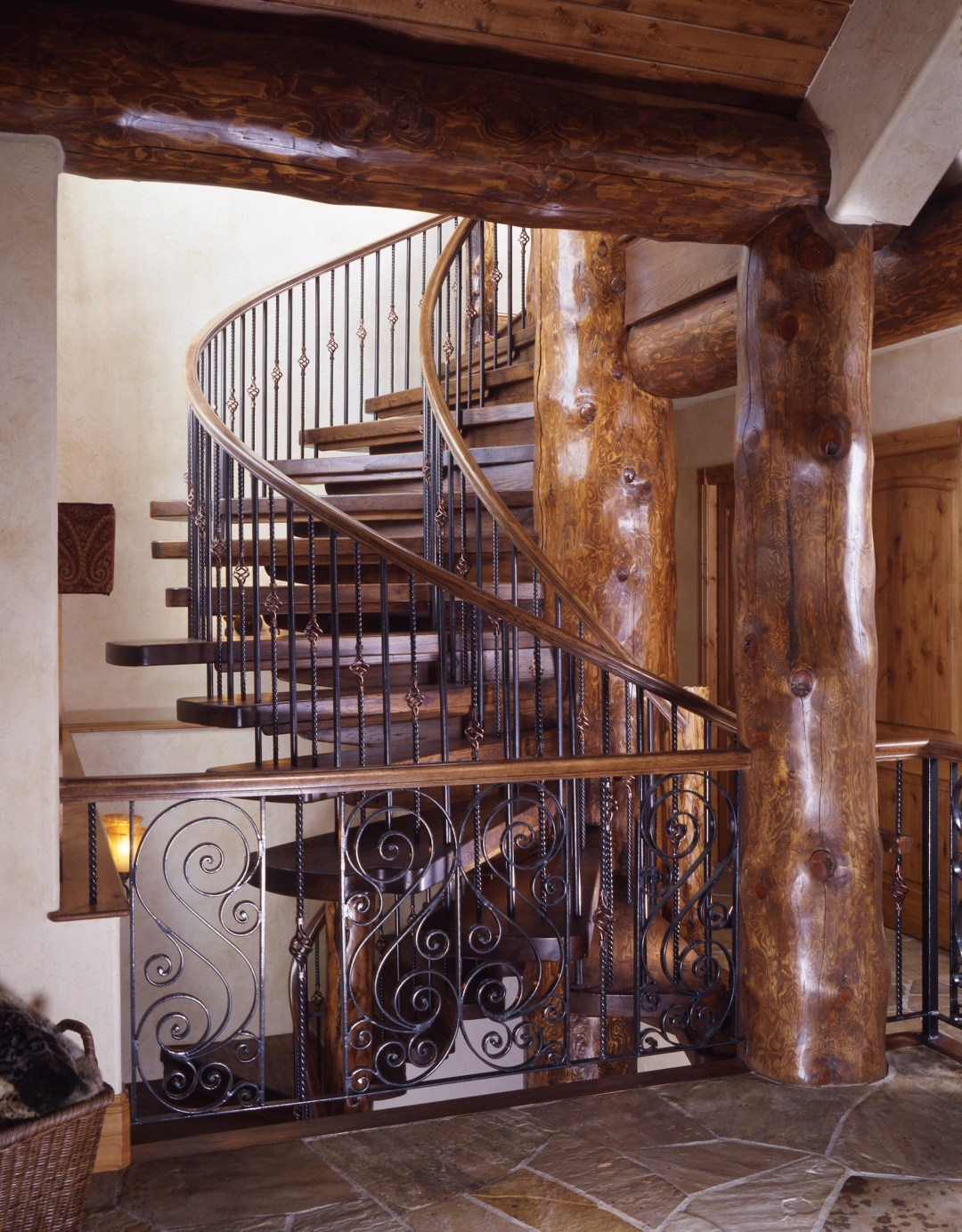 Blue River Home Stairwell
