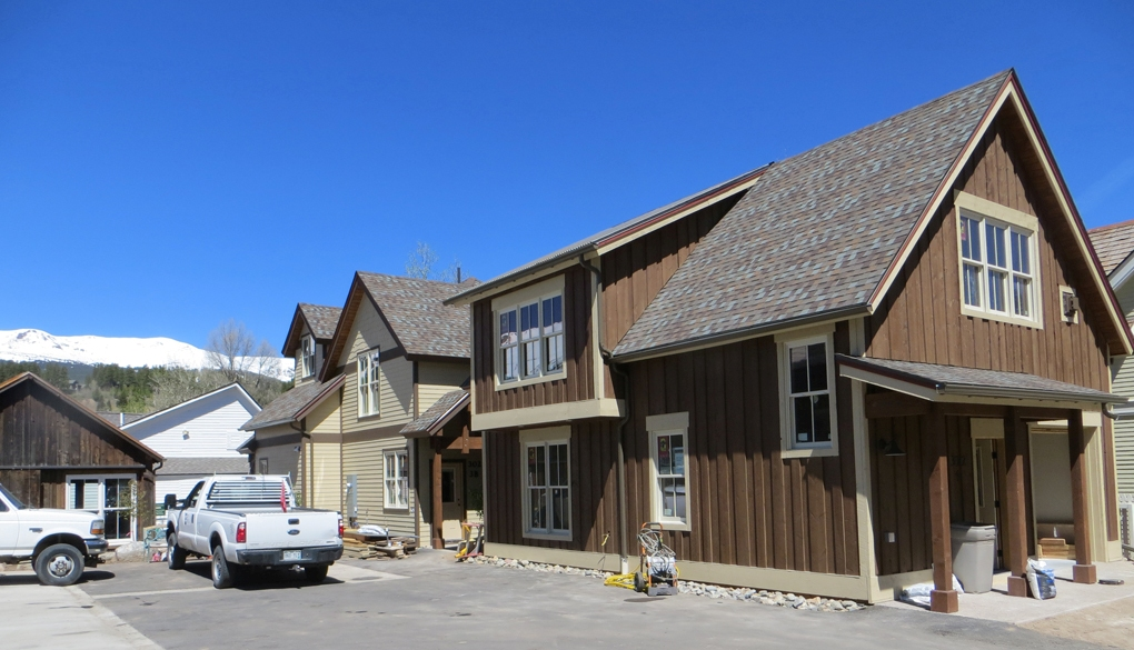 Breckenridge historic barn restoration (far left), New Duplex building and new single family residence.