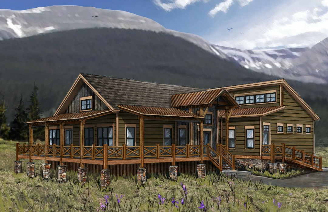 Red Canoe Lodge Rendering