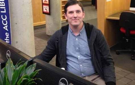 New ACC librarian Oliver Batchelor enjoys helping students and staff