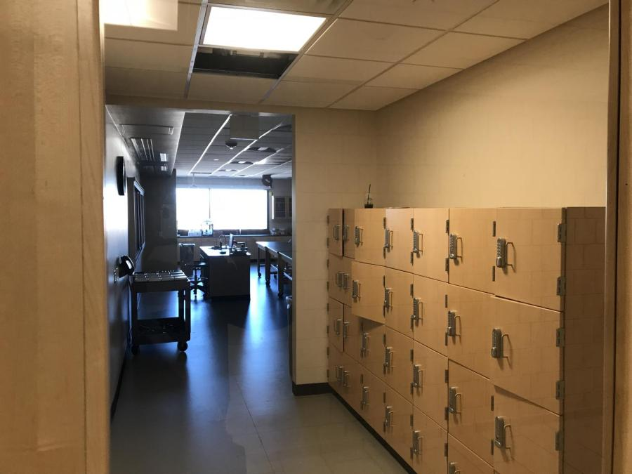 Students+now+get+storage+space+for+their+belongings+outside+of+the+new+science+labs.+The+renovation+to+the+third+floor+of+ACC%27s+main+building+on+the+Littleton+campus+was+recently+completed.
