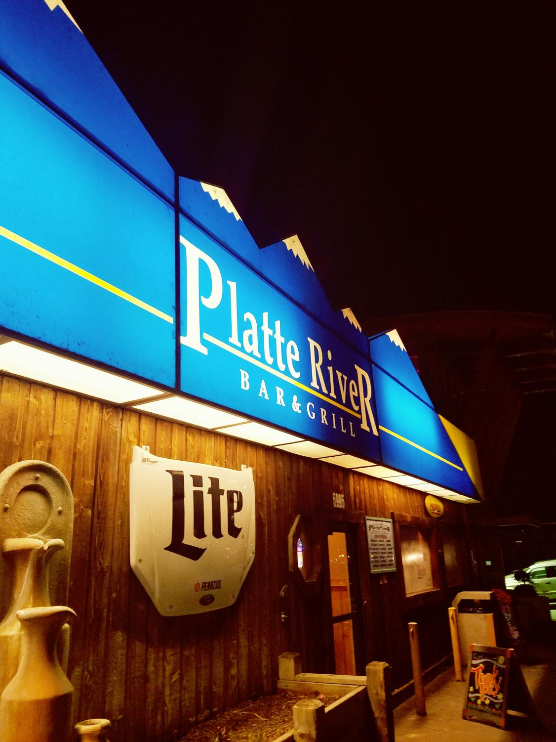 The Platte River Bar & Grill, located at 5995 S. Santa Fe Drive in Littleton, Colo., on the evening of March 6, 2018.