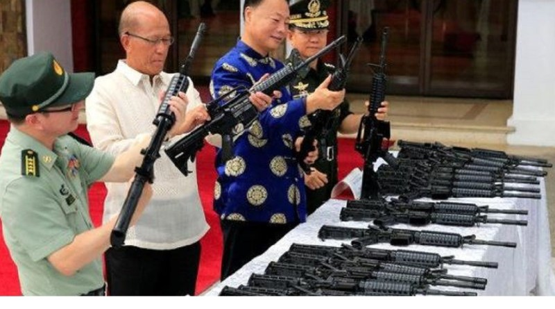 China gave 3,000 assault rifles to the Philippines