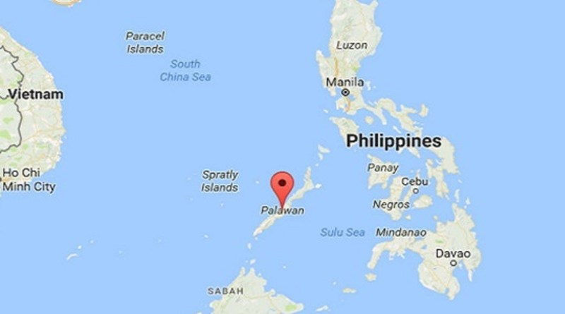 Palawan Island Philippines map