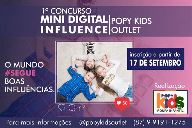 Popy Kids Outlet lança o 1º Concurso Mini Digital Influence