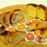 我家では朝にパンを食べずに夜に食べます、なぜなら