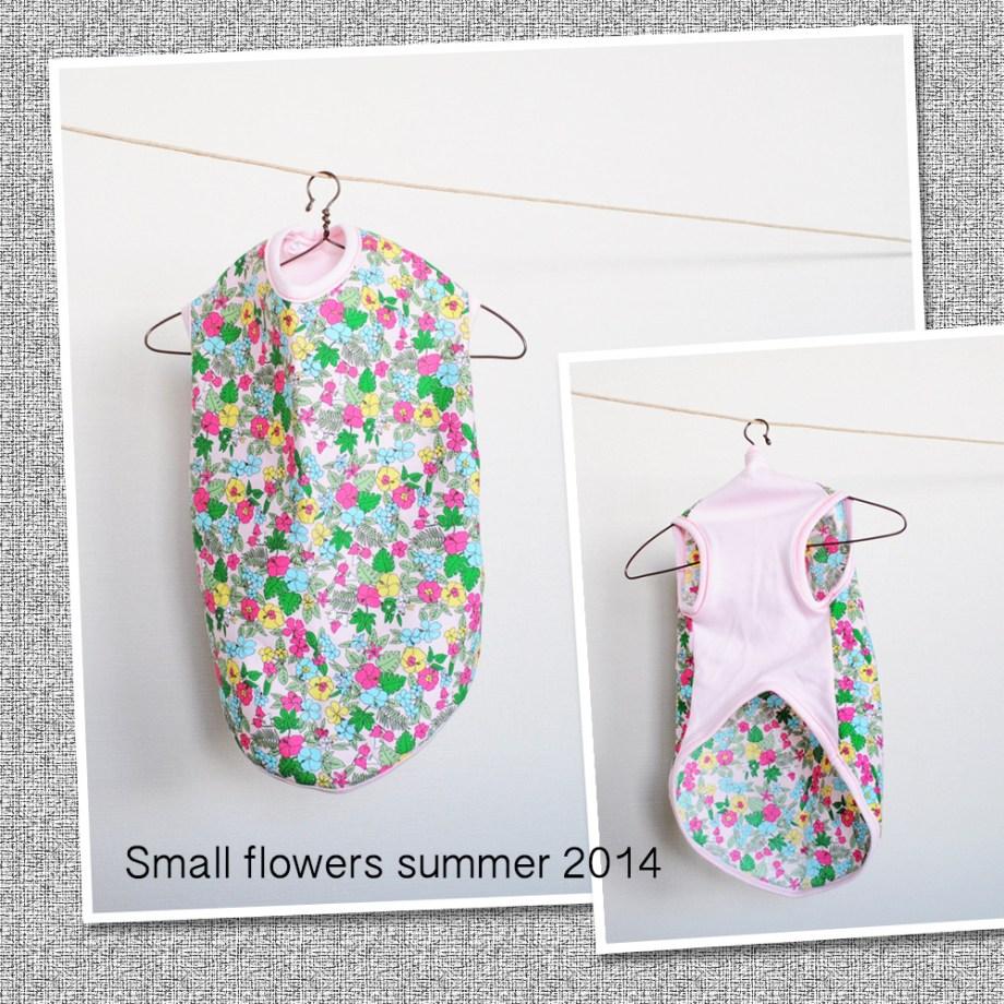 女の子に着て欲しい「小さなお花」の犬服を作ったよ!