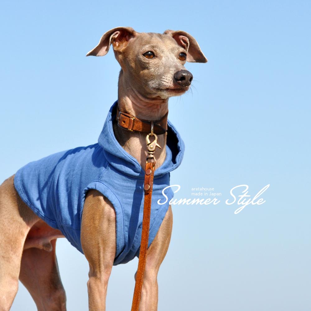 犬服 Summer Style 日本製コットンダブルガーゼ 選べる3タイプ×3カラー(Pink/Blue/Green)