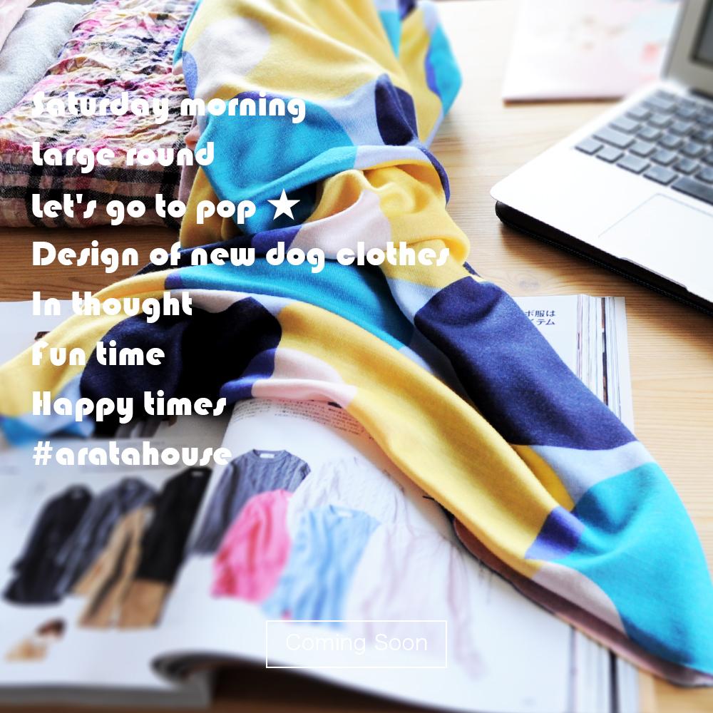 楽しい時間は、幸せな時間。新作の「犬服」デザインを考えてます。