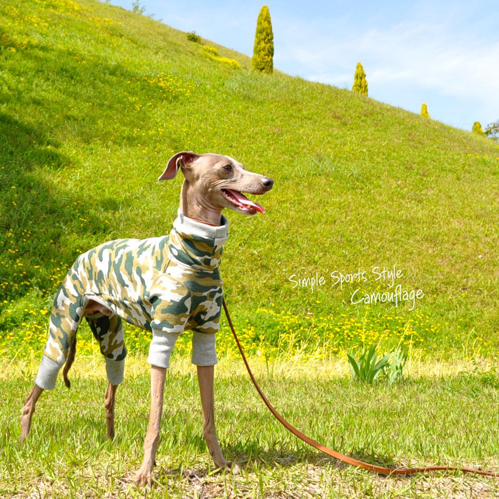 イタグレ服、ミニピン服、ウィペット服、サルーキ服、犬服・犬寝袋・雑貨の通販|泥んこになるまで、いっぱい走ろう♪芝だらけになるまで、いっぱいゴロゴロしよう♪|Simple Sports Style Camouflage(迷彩)