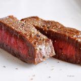 朝から「あわじビーフ」のステーキ♪