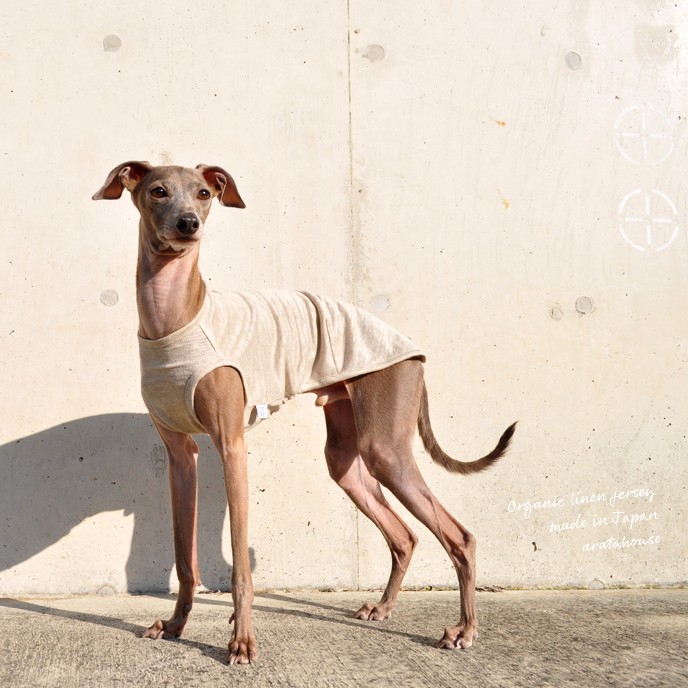 犬服 上質な日本製オーガニックリネンジャージ 選べる3タイプ