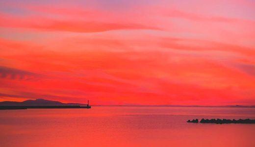 淡路島の夕焼け 8月