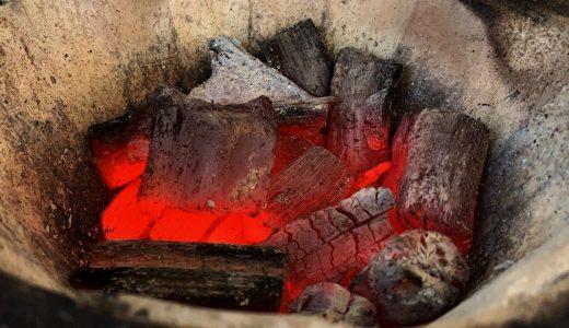 炭の簡単な着火方法、備長炭を20分で綺麗に着ける