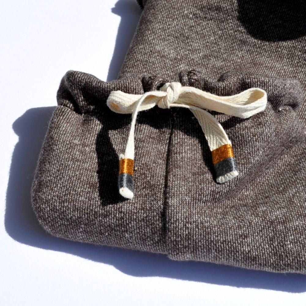 犬服の首元の紐の加工方法 紐の先に刺繍糸でデザインする 犬服の作り方