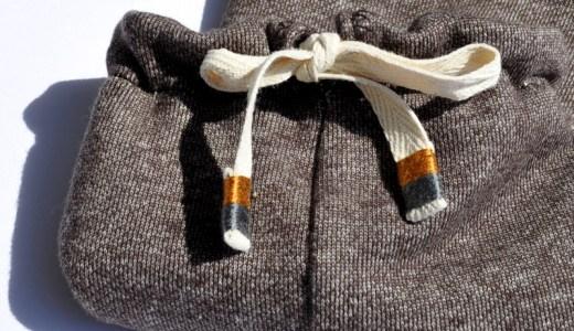 犬服の首元の紐の加工方法|紐の先に刺繍糸でデザインする|犬服の作り方