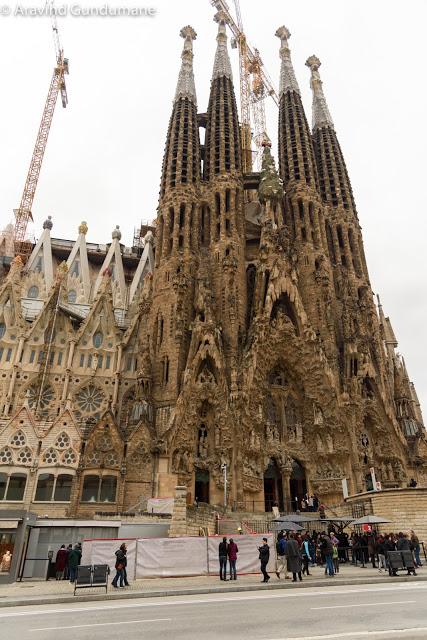 Sagrada Familia – A large incomplete church in Barcelona