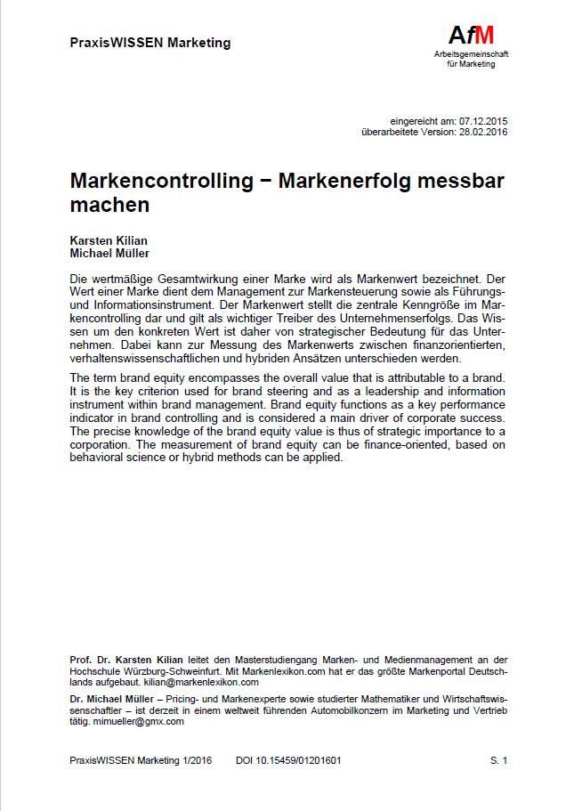 Markencontrolling − Markenerfolg messbar machen