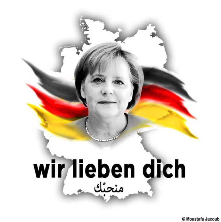 Merkel: Heilige Jungfrau von Germany