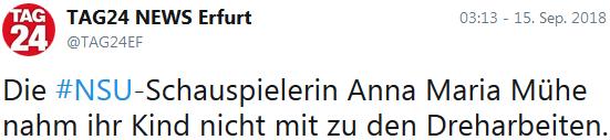 Die NSU-Schauspielerin Anna Maria Mühe