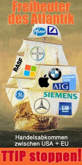 Freibeuter des Atlantik: TTIP stoppen!
