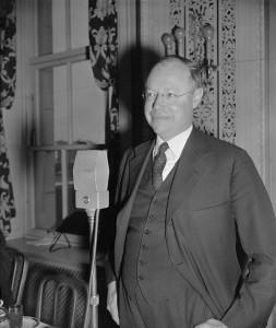 Senator Robert Robert Taft aus Ohio, 1939 - Namensgeber des gewerkschaftsfeindlichen Taft-Hartley-Gesetzes.