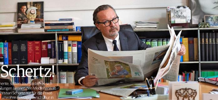 Medienverhinderungsanwalt Dr. Christian Schertz | Schertz Bergmann, Kurfürstendamm 53, Berlin.