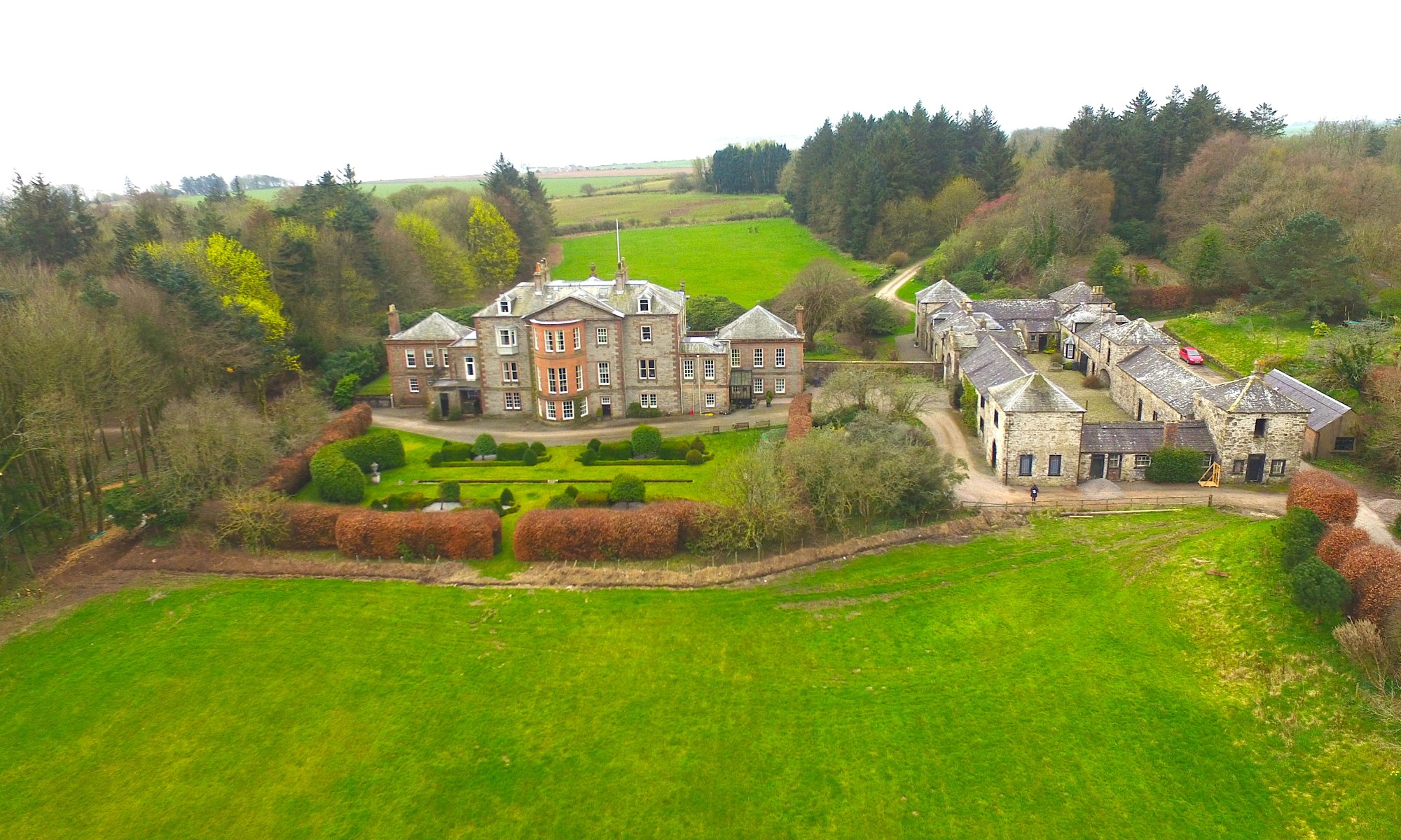 Arbigland House Aerial View