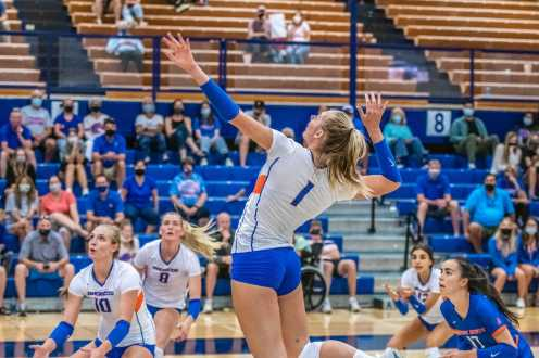 Boise State women's volleyball against Dixie State.