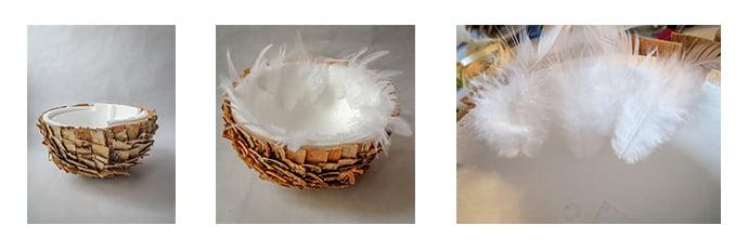 collage des plumes