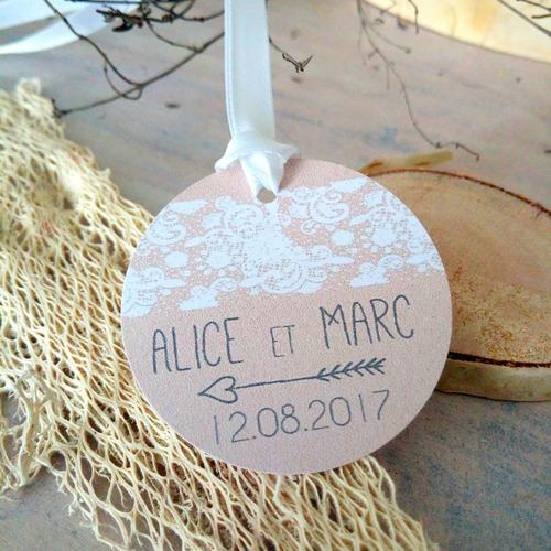 étiquettes mariage Champêtre Chic