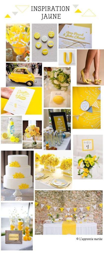 Déco mariage jaune