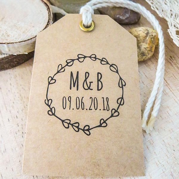 étiquettes kraft mariage