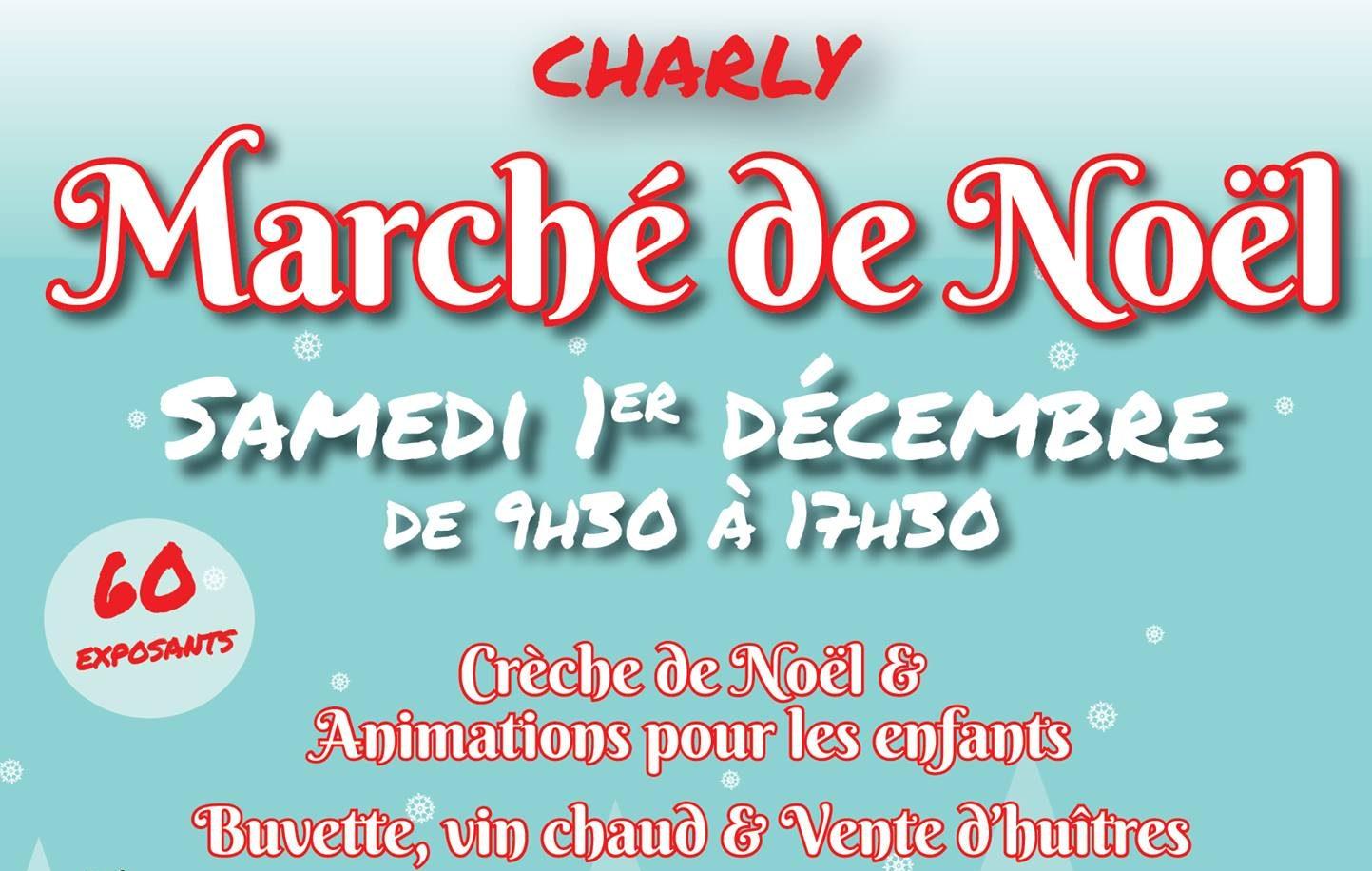 Marché de Noël à Charly le 1er Décembre 2018