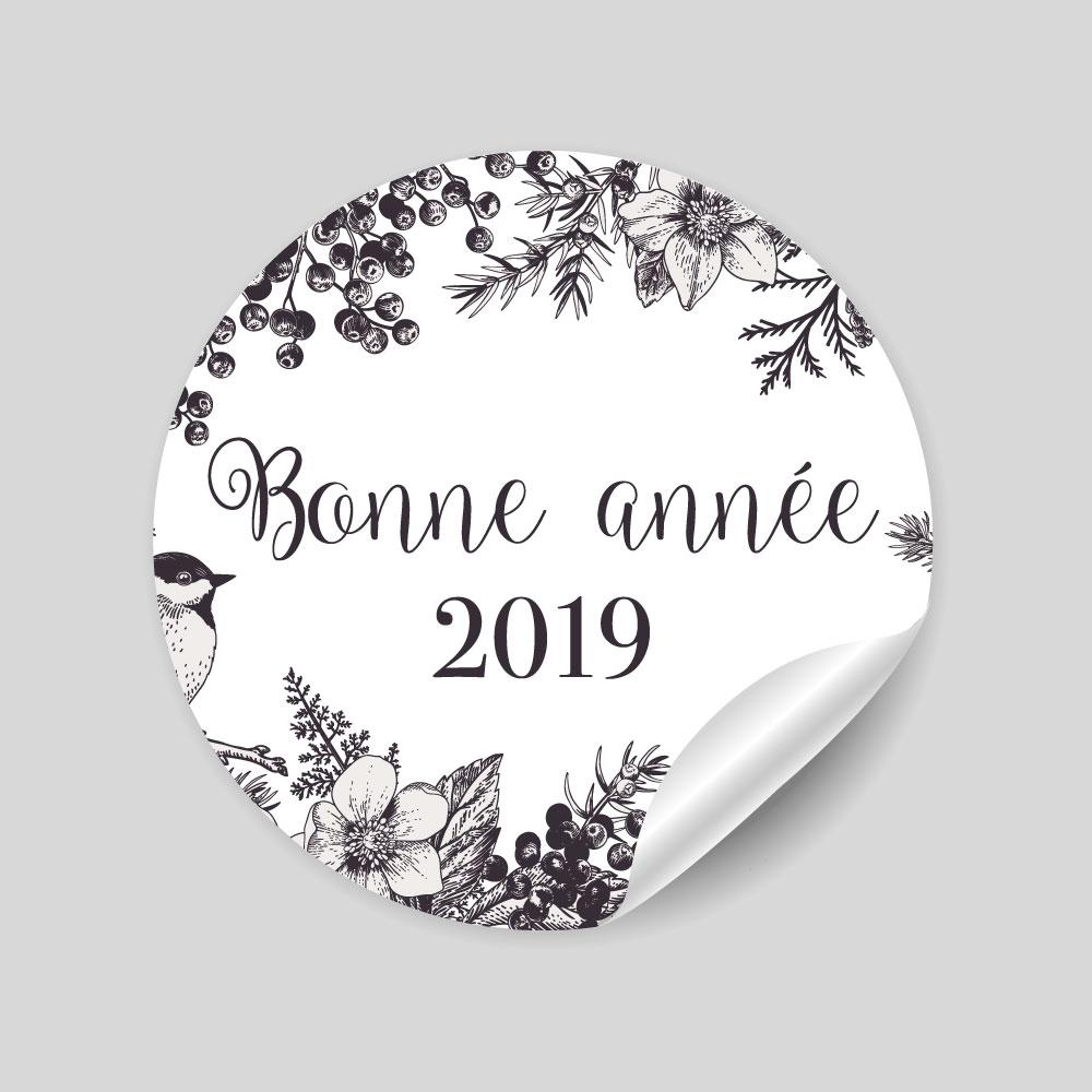 24 stickers Bonne Année 2019