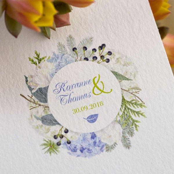 logo mariage Hortensia