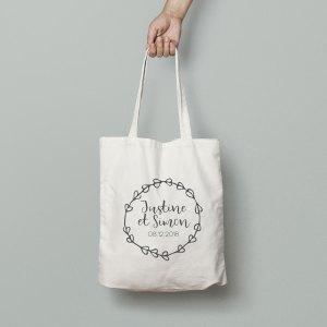 Tote bag mariage rustique