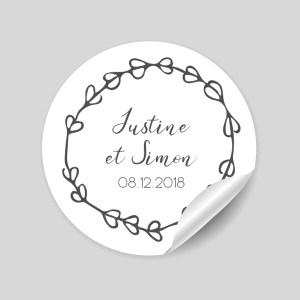 stickers coeurs mariage