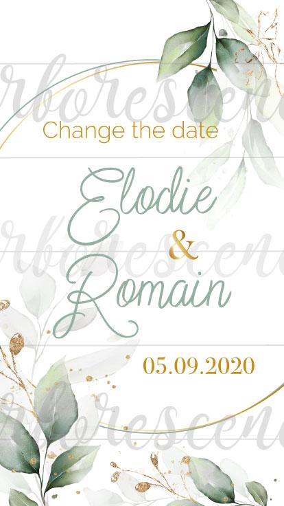 change the date -faire-part numérique