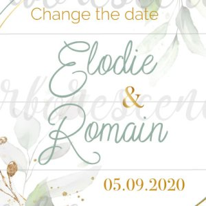 change the date -faire-part numérique
