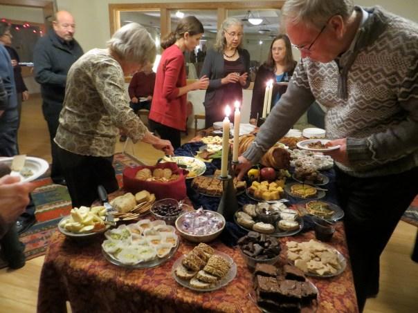 photo of food at Kitt Reuter-foss concert.