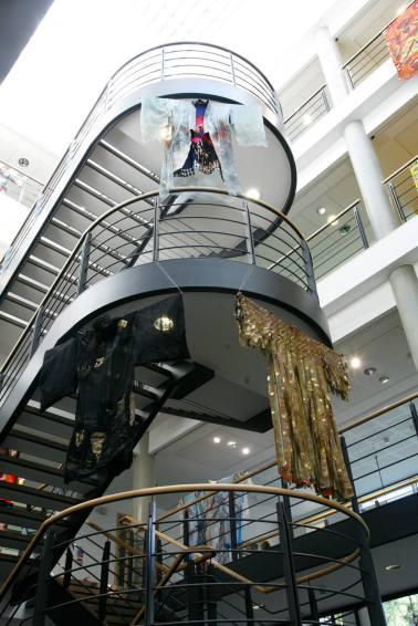 Deanna Tyson, Kimono on the stairs