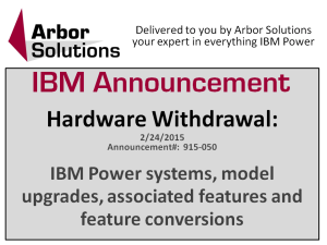 IBM Announcement Hardware Withdrawal