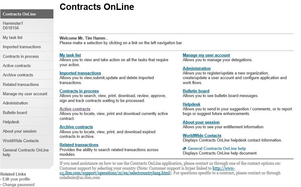 Ibm Contracts Online Arbor Solutions