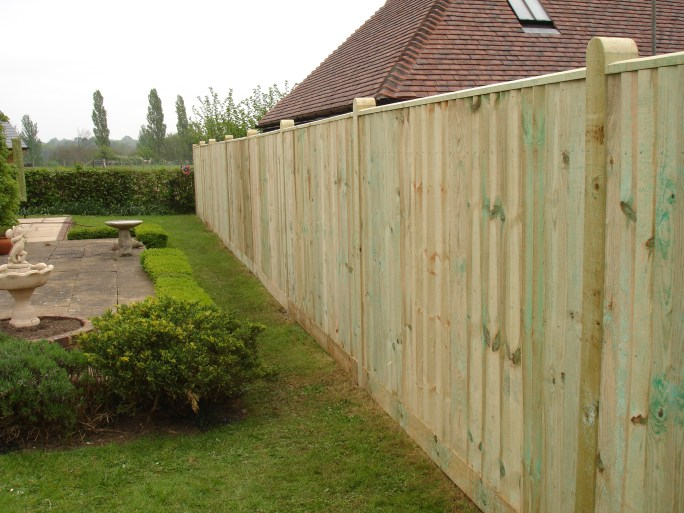 Closeboard fencing in Sussex