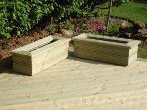 Planters, custom made for decking
