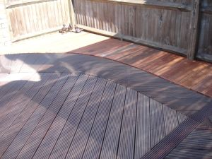 Stainless Steel wall & hardwood decking, Southwick, Sussex