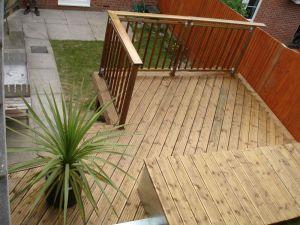 Softwood decking in Brighton
