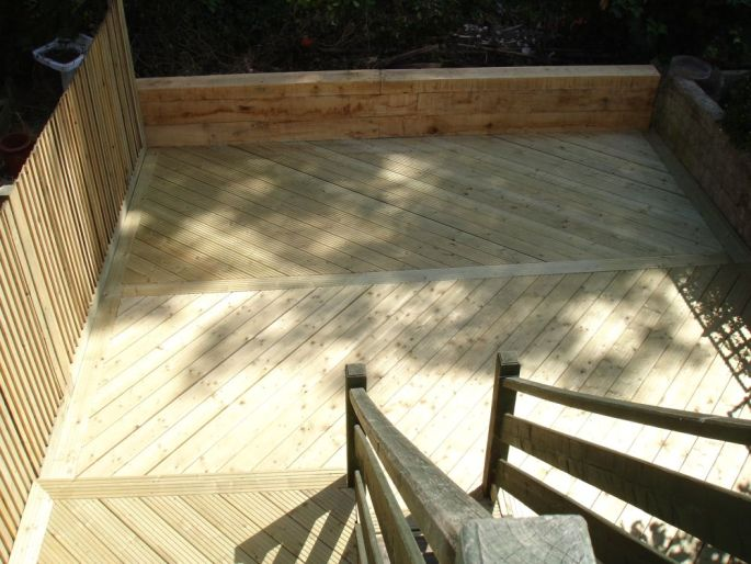 The 'after' shot of the same deck, Brighton