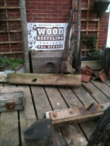 Collecting recycled wood